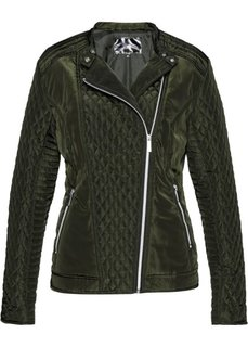 Куртка байкерская стеганая (темно-оливковый) Bonprix