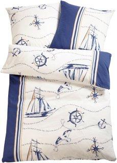 Постельное белье Корабль, джерси (синий) Bonprix