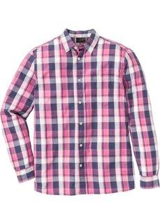 Рубашка Regular Fit с длинным рукавом, в клетку (красная ягода в клетку) Bonprix