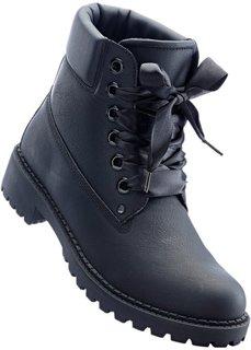 Ботинки на шнуровке (черный) Bonprix