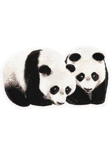 Коврик для двери Панда (черный) Bonprix
