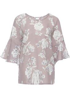 Блузка с цветочным принтом (розовато-лиловый с узором) Bonprix