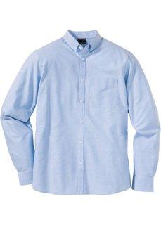 Рубашка Slim Fit с длинным рукавом (синий) Bonprix