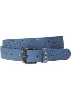 Ремень с перфорированным узором (синий джинсовый) Bonprix