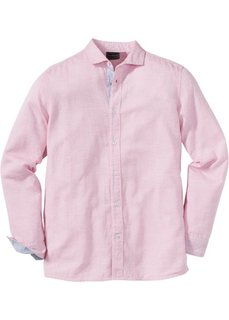 Рубашка Regular Fit с длинным рукавом (красный с узором) Bonprix