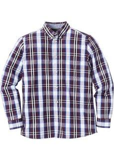 Рубашка Regular Fit с длинным рукавом, в клетку (красная ягода/синий в клетку) Bonprix