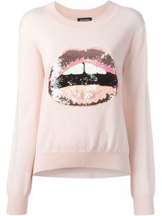 свитер с аппликацией губ Markus Lupfer