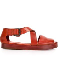 сандалии с перекрещенными ремешками Marsèll