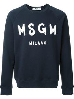 толстовка с принтом-логотипом MSGM