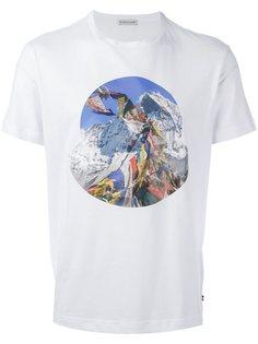 футболка с абстрактным принтом   Moncler