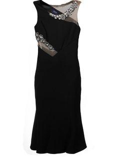декорированное облегающее платье Marchesa Notte