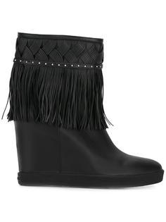 ботинки с бахромой на потайной платформе Le Silla