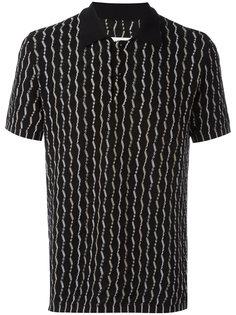 тканая рубашка поло с узором Maison Margiela