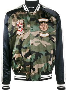 куртка-бомбер с камуфляжным принтом  Valentino