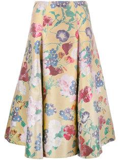 юбка с цветочным узором Valentino
