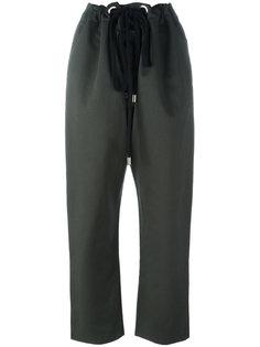 укороченные брюки на шнурке Marni