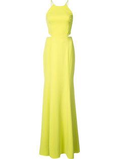 вечернее платье с вырезными деталями Marchesa Notte