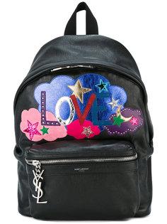 рюкзак с нашивками Love Saint Laurent