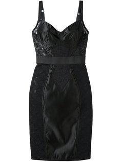 платье-бюстье с кружевой панелью Dolce & Gabbana