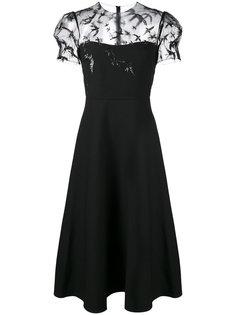 прозрачное платье с пайетками Valentino