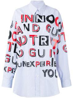 объемная рубашка с узором Maison Margiela