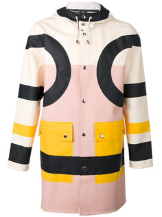 пальто дизайна колор-блок Henrik Vibskov