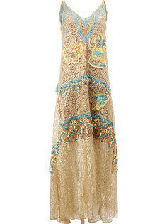 декорированное платье  Peter Pilotto