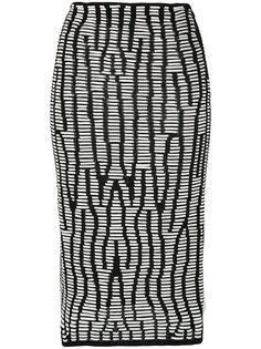 юбка с принтом оптической иллюзии Proenza Schouler