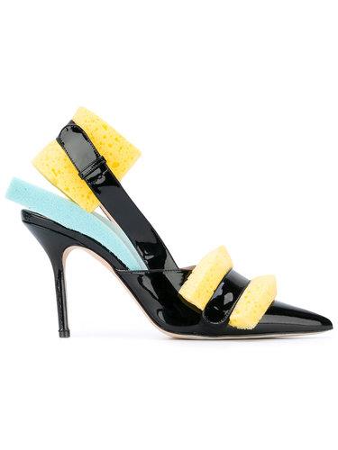 туфли без задника с липучками Christopher Kane