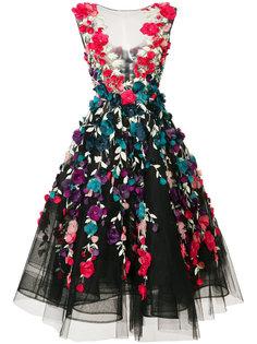платье с цветочной вышивкой Marchesa