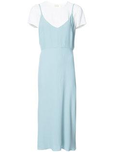 многослойное платье-миди Zimmermann