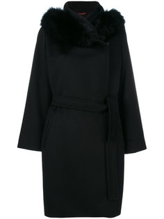 пальто с меховой оторочкой Max Mara Studio