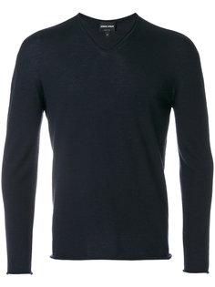свитер с V-образным вырезом Giorgio Armani