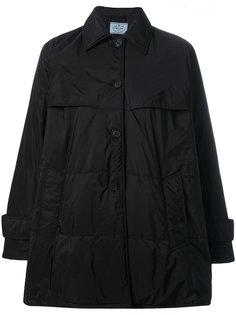 дутая А-образная куртка  Prada