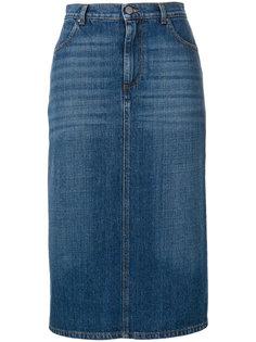 джинсовая юбка с потертой отделкой Alexa Chung