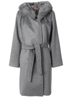 пальто Diritt с меховой отделкой Max Mara Studio
