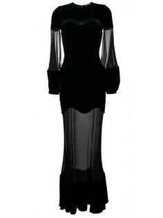 вечернее платье с полупрозрачными вставками Alexander McQueen
