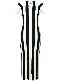 облегающее полосатое трикотажное платье Christopher Kane