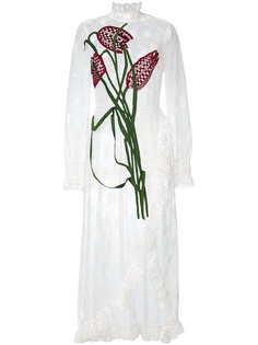 кружевное платье в стилистике пэчворк Christopher Kane