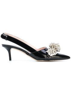 туфли без задника с блестящим декором Christopher Kane