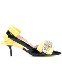 туфли с декором в виде губок и стразами Christopher Kane