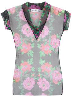 floral tulle blouse Amir Slama