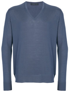 пуловер с V-образным вырезом Prada