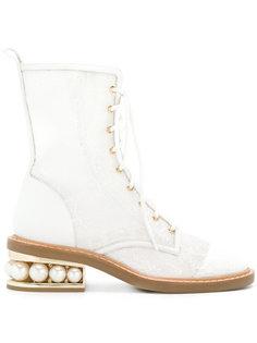 Casati pearl combat boots Nicholas Kirkwood