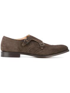 туфли-монки с перфорацией Churchs