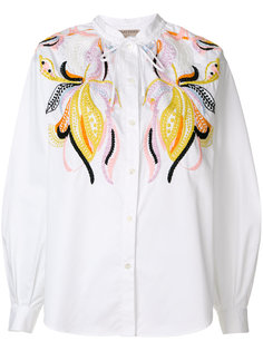 рубашка с вышивкой Emilio Pucci