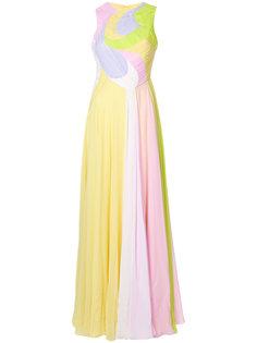 длинное платье дизайна колор-блок Emilio Pucci