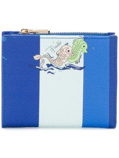 полосатый кошелек с принтом рыб Emilio Pucci