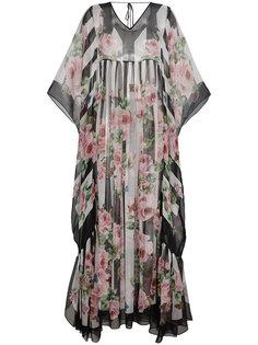 платье-туника макси с принтом  Dolce & Gabbana