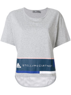 logo print mesh hem T-shirt Adidas By Stella Mccartney